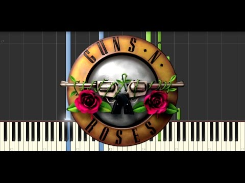 Axl rose – November rain live intro piano tutorial