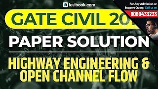 GATE 2019 CE Answer Key | Highway Engineering & Open Channel Flow | Civil Paper Analysis | GATE 2019
