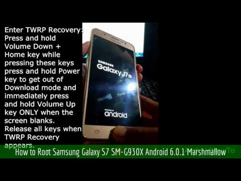 How to Root Samsung Galaxy S7 SM-G930X Android 6.0.1 Marshmallow