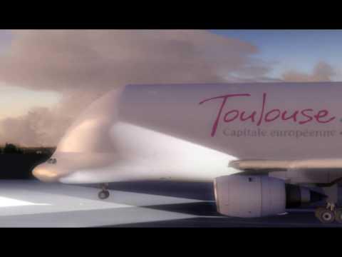 FSX Beluga Airbus A300 B4600 Departure
