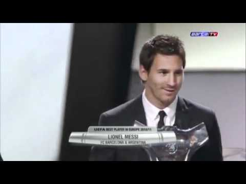 Messi wins UEFA best player in europe award 2011