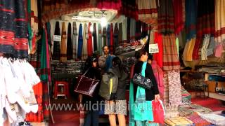 Indian Shawls And Stoles For Sale At Dilli Haat