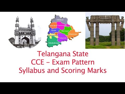 Telangana  State  CCE Exam Pattern- Syllabus and Marks