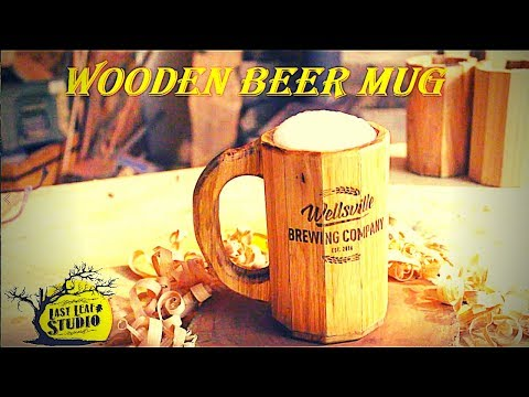 DIY Wooden Beer Mug - Made for the local brewery