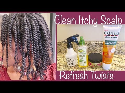 How To Refreshen 2 Strand Twists & Clean Itchy Scalp