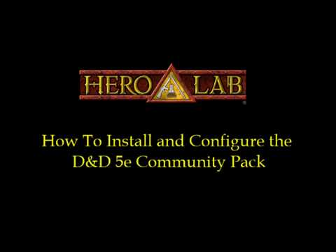 Hero Lab - How To Install The D&D 5e Community Pack