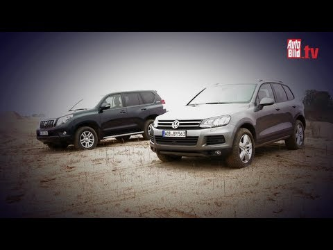 Toyota Land Cruiser, VW Touareg - Old master vs. young star