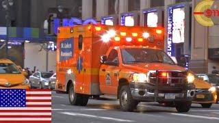 [NEW YORK CITY] Ambulance St. Luke´s Roosevelt responding at Pen Station - code 3
