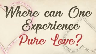 Where can One Experience Pure Love?