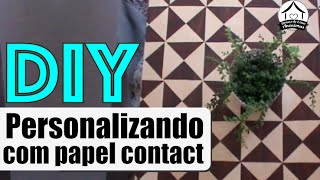 DIY: papel contact + mesa sem graça