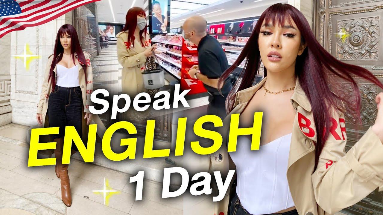 Nisa in The U.S.A.Ep.13 พูดแต่ภาษาอังกฤษ 1 วันเต็มๆ ของนิสา!! | Nisamanee.Nutt