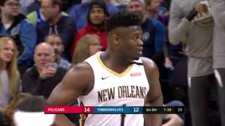 Lonzo Ball Lobs To Zion Williamson Twice In A Row | March 8, 2020