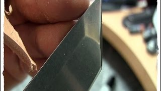 Sharpening a Tanto Free Hand, Viewer Request