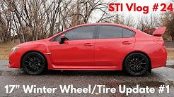 "2017 Subaru WRX STI Vlog #24: 17"" Winter Wheel/Tire Update #1"