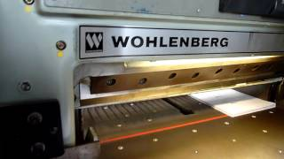 Wohlenberg 90 paper cutting machine for sale # 1980