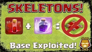 TH 9 GOLALOON with the Skeleton Spell | Techniques | Clash of Clans