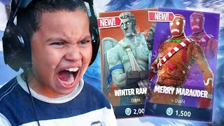 THIS IS RETURNING TO FORTNITE!! *NEW* CHRISTMAS SKINS COMING!! FORTNITE BATTLE ROYALE 10 YR OLD KID!