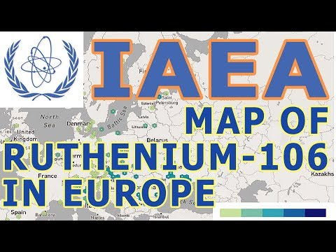 IAEA - map of Ruthenium-106 in Europe