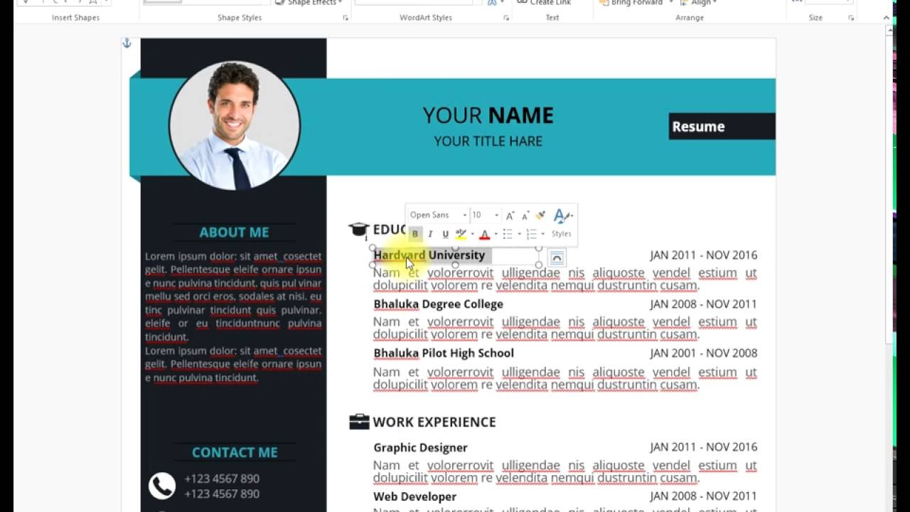 how to edit cv resume in microsoft word youtube