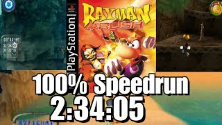 Rayman Rush 100% Speed Run in 2:34:05
