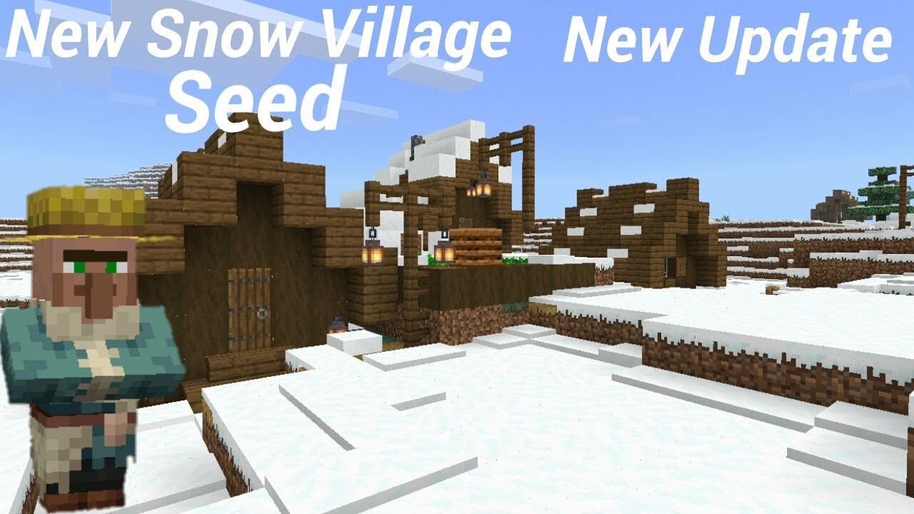 New Snow Village Structure Seed in MCPE(New Update)(Version 12.120