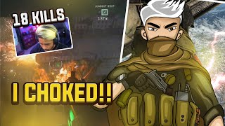 18 Solo Kills but I CHOKED! | High Kill w/ Sad Ending Highlight | sc0ut