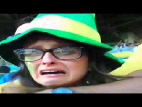 Brazil Fan Crying during the mach Brazil vs Germany 1-7 Semifinal FIFA World Cup 2014