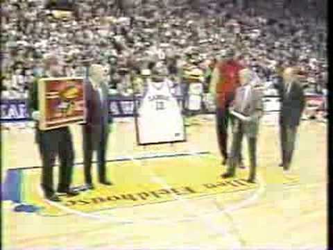 Wilt Chamberlain Kansas Jersey Retirement Ceremony