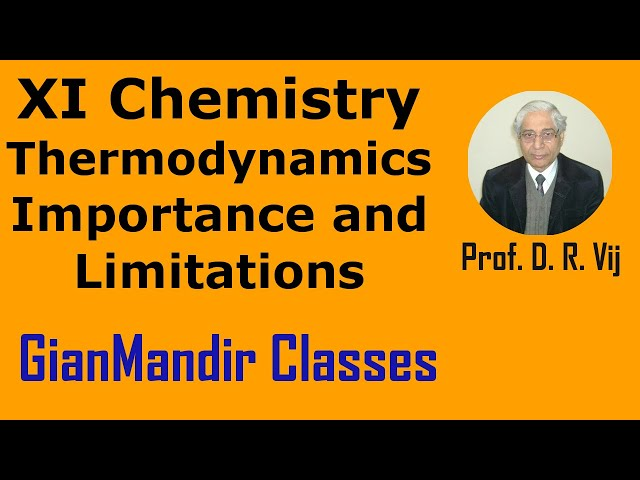 XI Chemistry - Thermodynamics - Importance and Limitations by Ruchi Mam