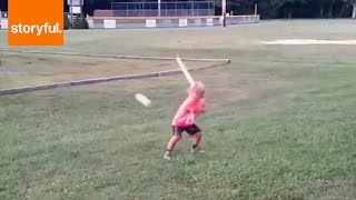 Wiffle Ball Kid Has Swagger