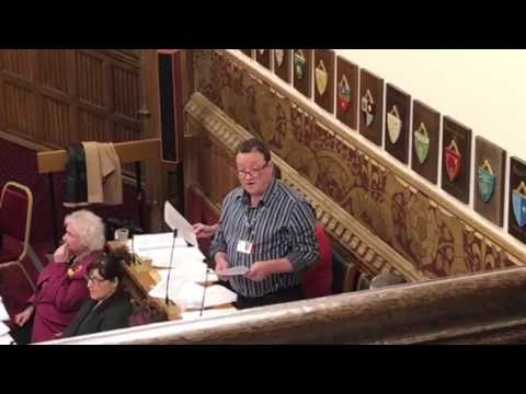 Councillor Andy Kelly proposes the Lib Dem Alternative Budget in Rochdale.