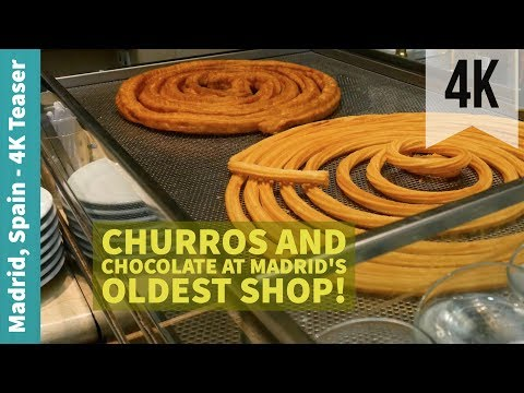 Churros and Chocolate at Madrid's Oldest Shop! | Minute Meal | Madrid, Spain | 4K Teaser