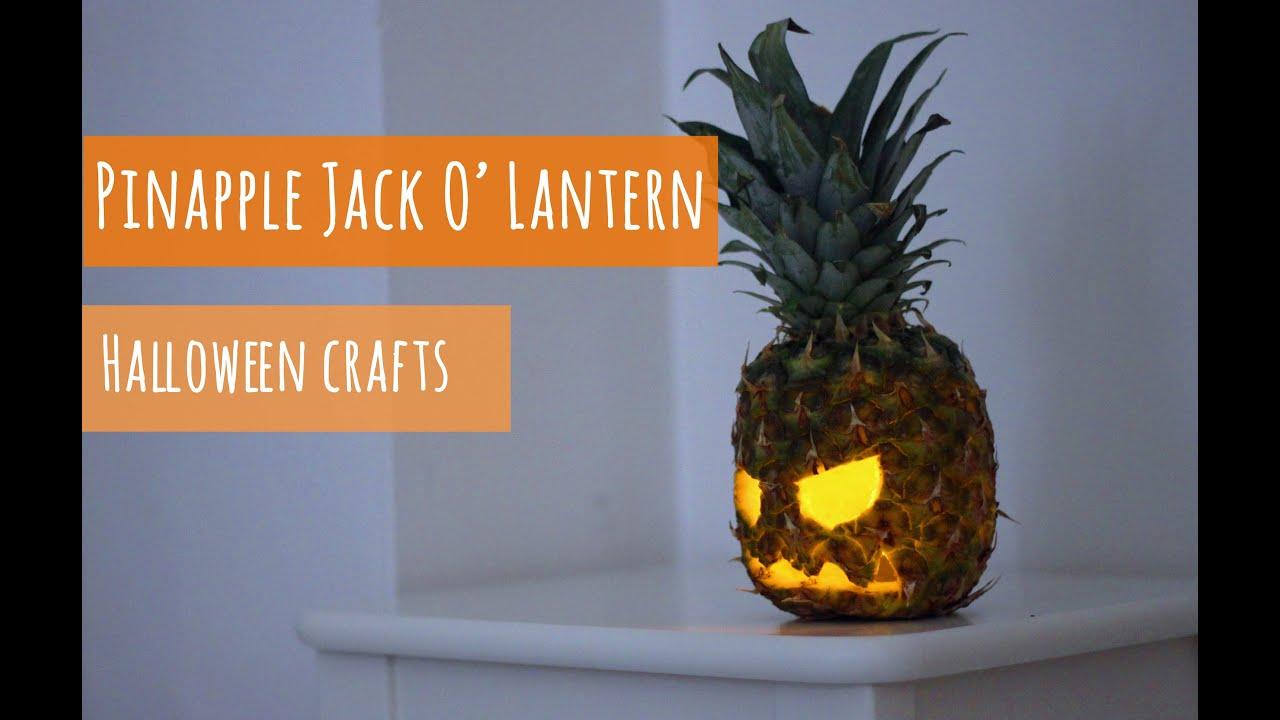 Halloween craft make a pinapple jack o lantern youtube
