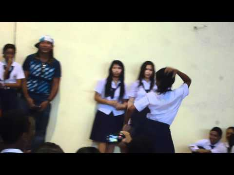 Two Girls Dancing In The Institute National Of Panama (Pura Demencia)