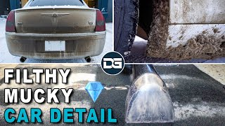Deep Cleaning a Big DIRTY Chrysler | Satisfying Interior and Exterior Car Detailing!