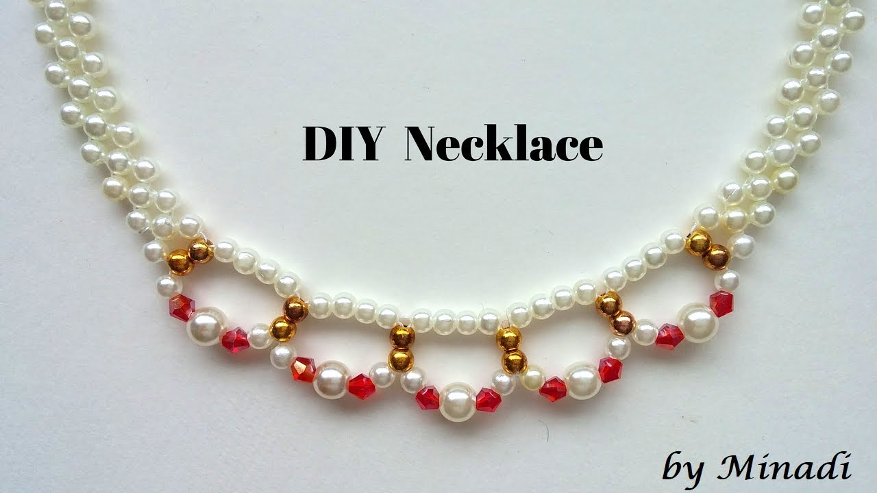 How to make a necklace. Beaded necklace tutorial. jewelry making ...