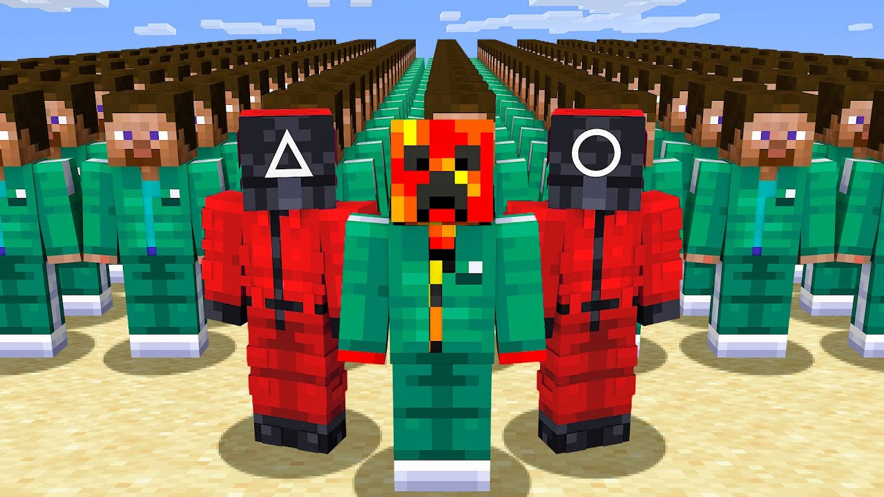 Download Playing SQUID GAME in Minecraft!