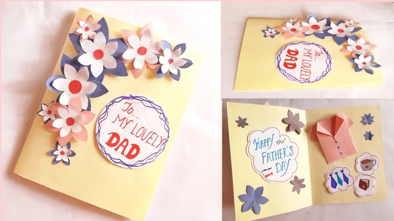 Greeting Card Idea For Dad Father S Day Father S Birthday Youtube