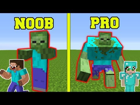 Minecraft: NOOB VS PRO!!! - ZOMBIE MUTANT EXPERIMENTS IN MINECRAFT!