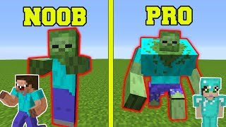 Minecraft: NOOB VS PRO!!! - ZOMBIE MUTANT EXPERIMENTS IN MINECRAFT!