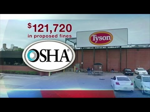 Tyson Foods cited for safety hazards