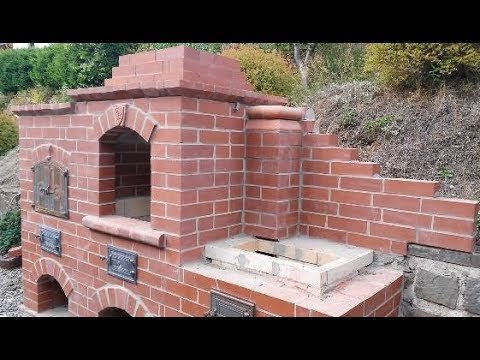 Brick BBQ stove and oven summer projekt pt.6