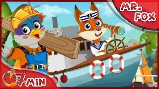 Herr Fuchs ~ Kreuzfahrtschiff Full Movie ~ Mr Fox Funny Cartoon für Kinder [4k]