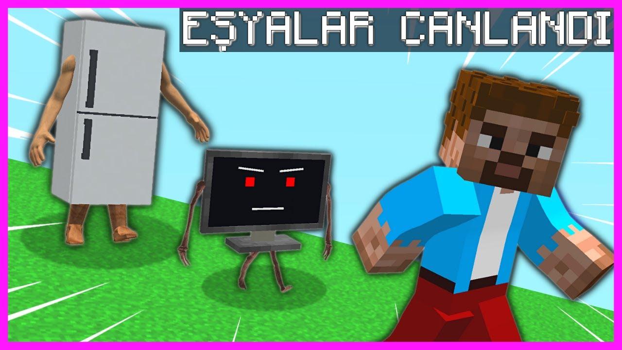 ŞEHİRDEKİ TÜM EŞYALAR CANLANDI! 😱 - Minecraft