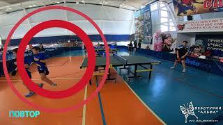 4К +повторы Чимин Егор и Виноградов Никита. Турнир по настольному теннису город Гагарин 9-11 апреля