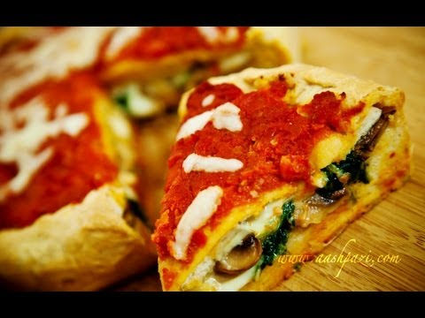 Stuffed Pizza (Spinach and Mushrooms) recipe