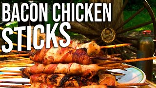 Bacon Chicken Sticks Recipe By The Bbq Pit Boys