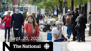 CBC News: The National | Sept. 20, 2020 | Que. renews COVID-19 restrictions; John Turner remembered
