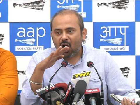 Aap Delhi Convenor briefs Media on MCD