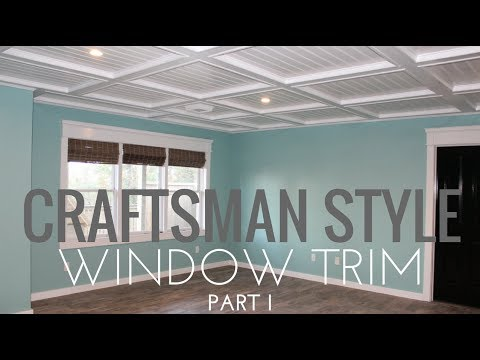 Diy Craftsman Window Trim In 4 Mintues Youtube